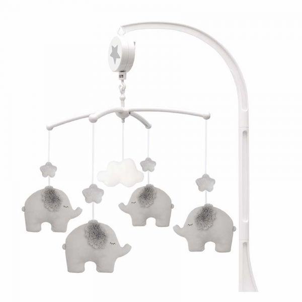 JaBaDaBaDo Hudobný kolotoč slon sivý