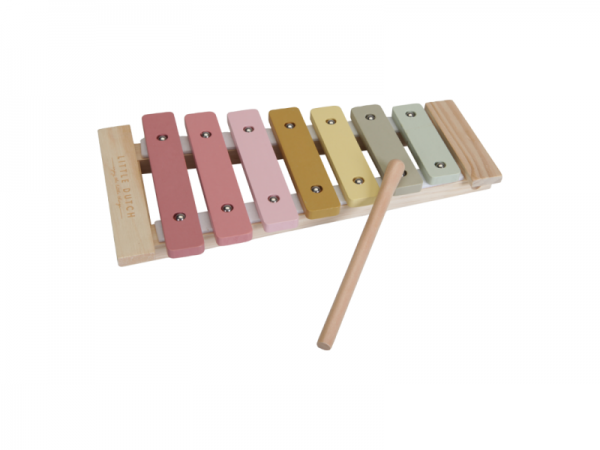 LITTLE DUTCH Xylofón pink NEW