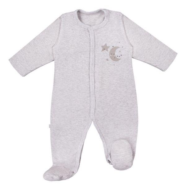Dojčenský overal TINY Hviezdičky sivý