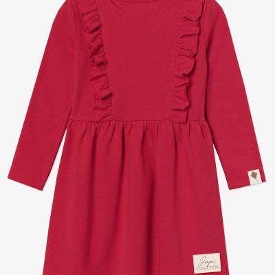 Dievčenské šaty volán TULIP DR červené