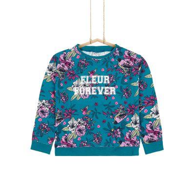 Dievčenské tričko kvety Bler