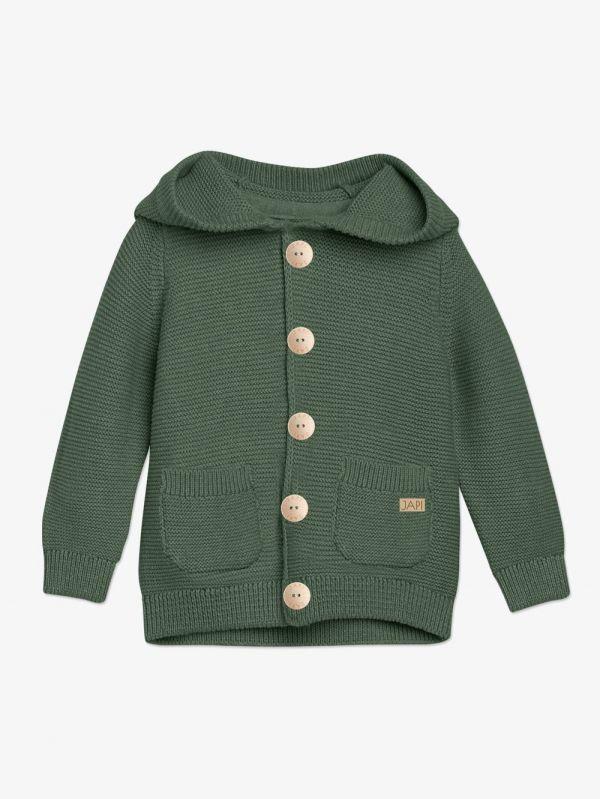 detský sveter zelený