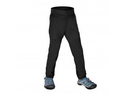 Unuo Detské softshellové nohavice bez zateplenia pružné Sporty čierne