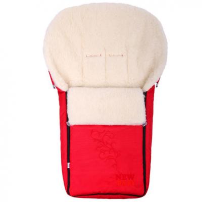detský fusak s ovčím rúnom New Baby červený