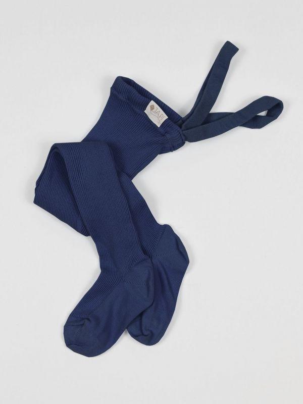 Pančuchy na traky tmavo-modrá