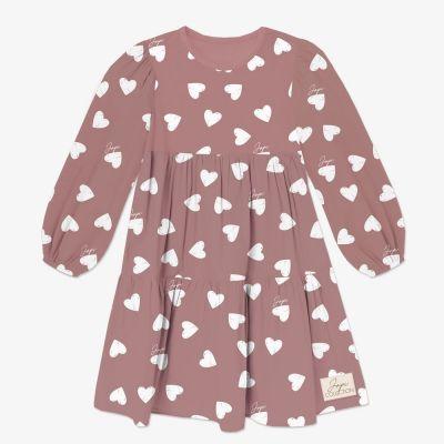 Dievčenské šaty volán JAPI HEARTS DR
