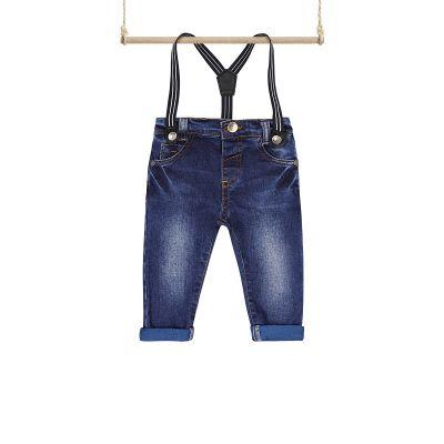 Dojčenské rifľové nohavice na traky Edvin