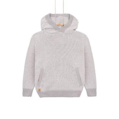 Chlapčenský sveter s kapucňou Bebakids sivý