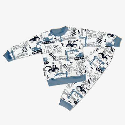 Chlapčenské pyžamo Japitex MACHINES modré