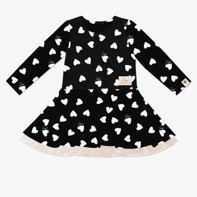 Dievčenské šaty tyl JAPI HEARTS DR
