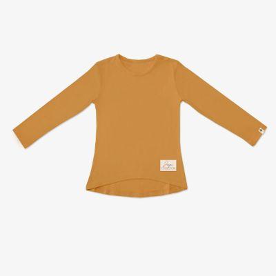 Dievčenské tričko s dlhým rukávom JAPITEX žlté